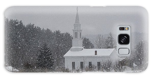 Snowy Church Galaxy Case