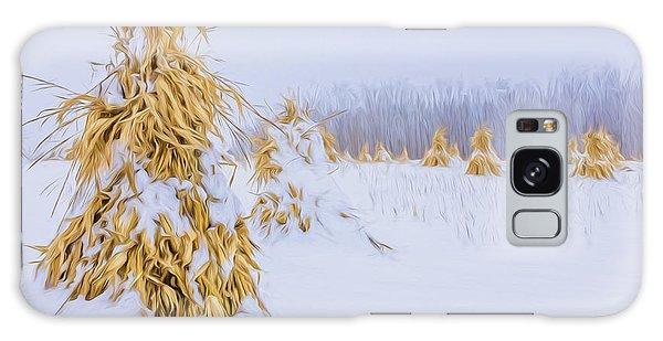 Snowy Corn Shocks - Artistic Galaxy Case
