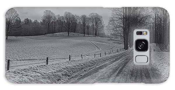 Snowy Country Road Galaxy Case