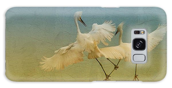 Snowy Egret Dance Galaxy Case by Deborah Benoit
