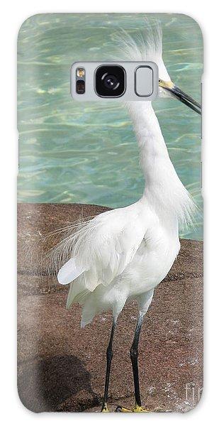 Snowy Egret Galaxy Case by DejaVu Designs