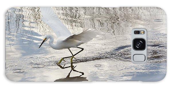 Snowy Egret Gliding Across The Water Galaxy Case by John M Bailey