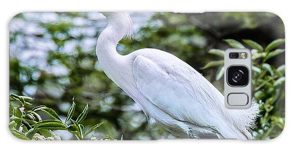 Snowy Egret In Trees Galaxy Case