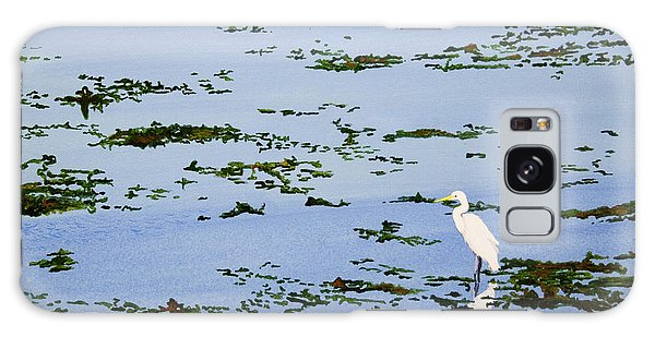 Snowy Egret Galaxy Case by Mike Robles