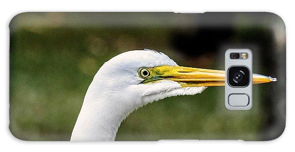 Snowy Egret Profile Galaxy Case