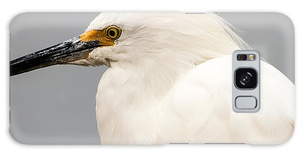 Snowy Egret Profile Galaxy Case