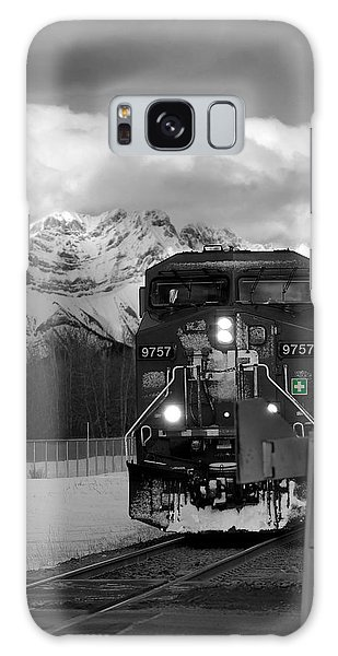 Snowy Engine Through The Rockies Galaxy Case by Lisa Knechtel