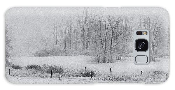 Snowy Fields Galaxy Case