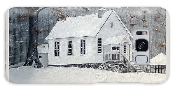 Snowy Gates Chapel  -little White Church - Ellijay Galaxy Case
