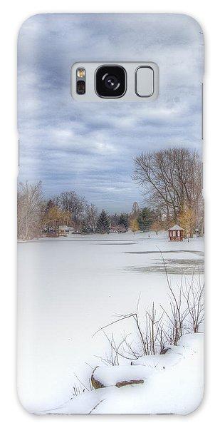 Snowy Lake Galaxy Case