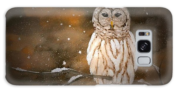 Snowy Night Owl Galaxy Case