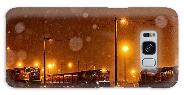 Snowy Night Galaxy Case by Sylvia Thornton