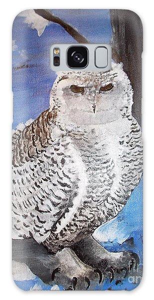 Snowy Owl . Galaxy Case by Francine Heykoop