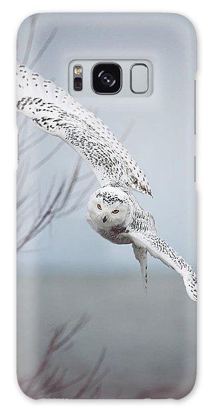 Pier Galaxy Case - Snowy Owl In Flight by Carrie Ann Grippo-Pike