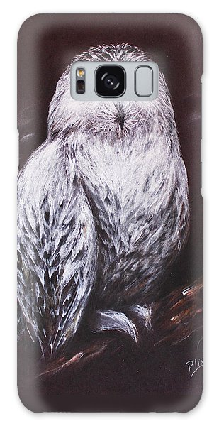 Snowy Owl In The Night Galaxy Case