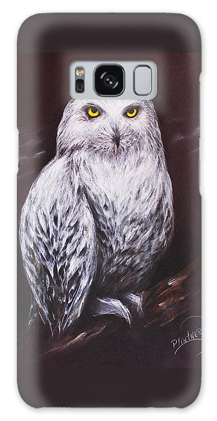 Snowy Owl In The Night Galaxy Case by Patricia Lintner