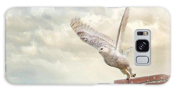 Snowy Owl Galaxy Case by Karen Lynch
