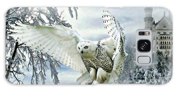 Snowy Owl Galaxy Case by Morag Bates
