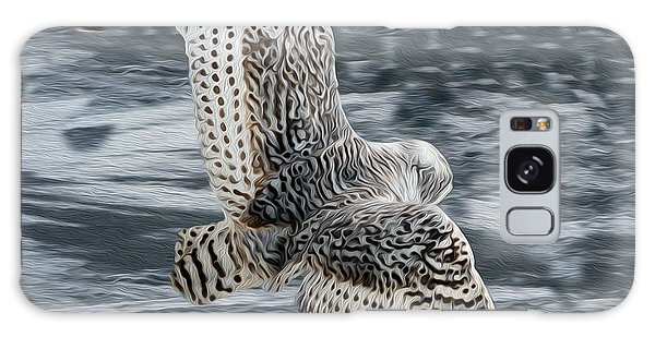 Snowy Owl Wingspan Galaxy Case
