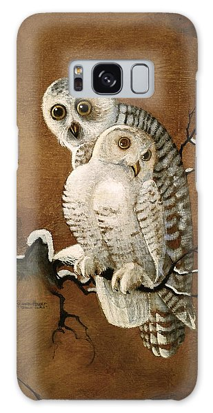 Snowy Owls Galaxy Case by Richard Hinger
