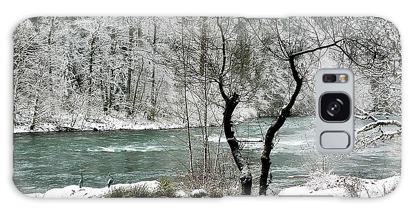 Snowy River And Bank Galaxy Case by Belinda Greb