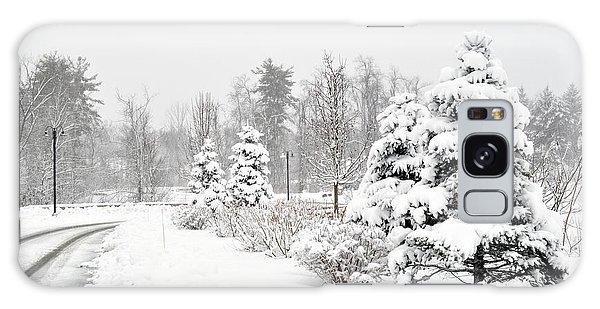 Snowy Snow Scene Galaxy Case