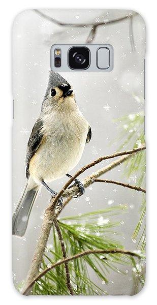 Snowy Songbird Galaxy Case by Christina Rollo