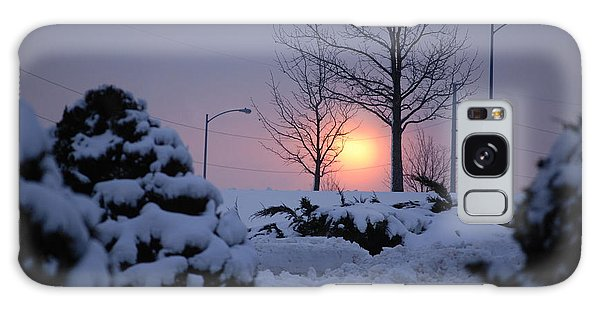 Snowy Sunrise Galaxy Case