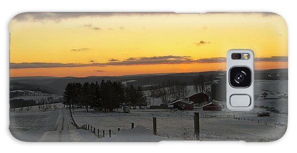 Snowy Pennsylvania Sunset Galaxy Case