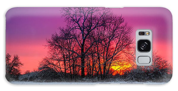 Snowy Sunset Galaxy Case