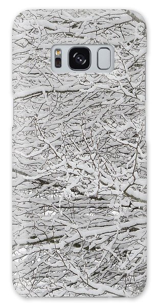 Snowy Tree Branches Galaxy Case