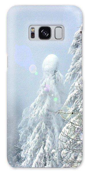 Snowy Trees Galaxy Case