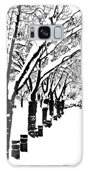 Snowy Walk Galaxy Case