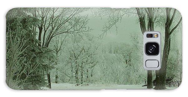 Snowy Winter Frost Galaxy Case