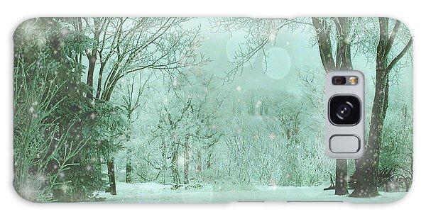 Snowy Winter Night Galaxy Case
