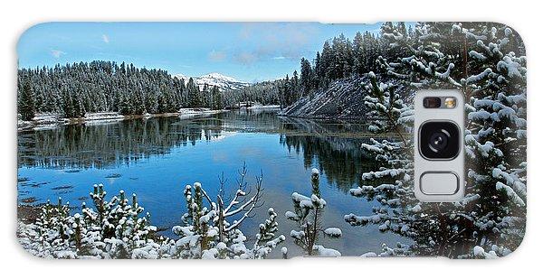 Snowy Yellowstone  Galaxy Case