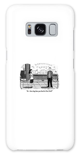 Leash Galaxy Case - So - How Long Have You Lived In New York? by Danny Shanahan