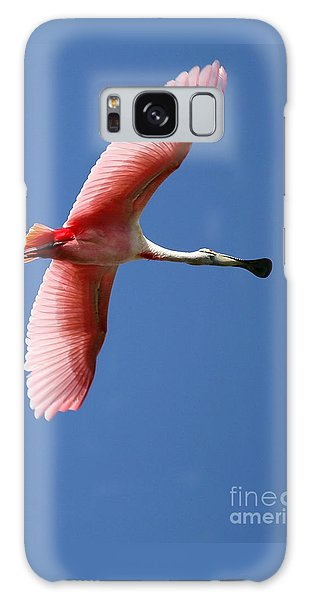 Soaring High Roseate Spoonbill Galaxy Case