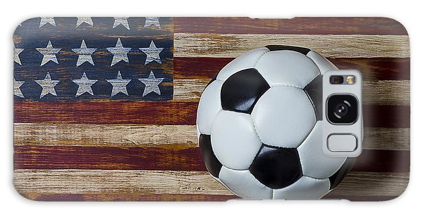 Soccer Galaxy S8 Case - Soccer Ball And Stars And Stripes by Garry Gay