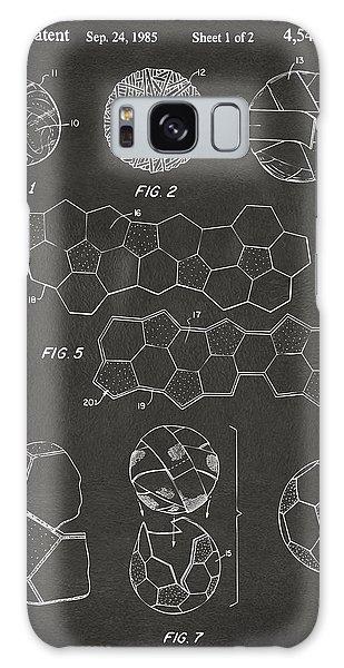 Galaxy Case featuring the digital art Soccer Ball Construction Artwork - Gray by Nikki Marie Smith