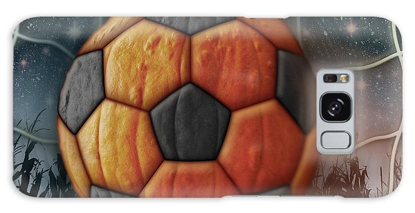 Soccer Ball Pumpkin Galaxy Case