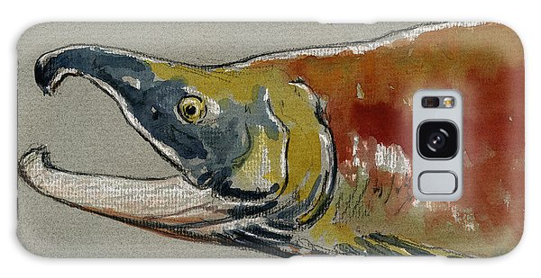 Salmon Galaxy S8 Case - Sockeye Salmon Head Study by Juan  Bosco
