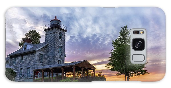 Sodus Bay Lighthouse Galaxy Case