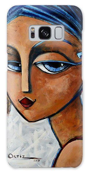 Galaxy Case featuring the painting Sofia by Oscar Ortiz