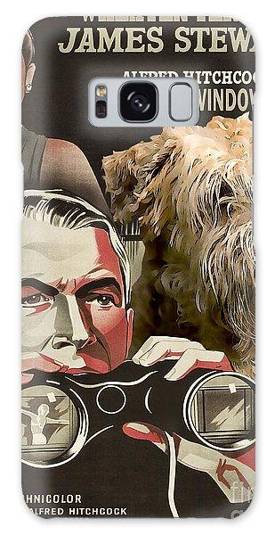 Soft-coated Wheaten Terrier  - Wheaten Terrier Art Canvas Print - Rear Window Movie Poster Galaxy Case
