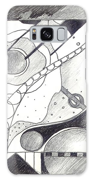 Organic Abstraction Galaxy Case - Soft Landings 1 by Helena Tiainen