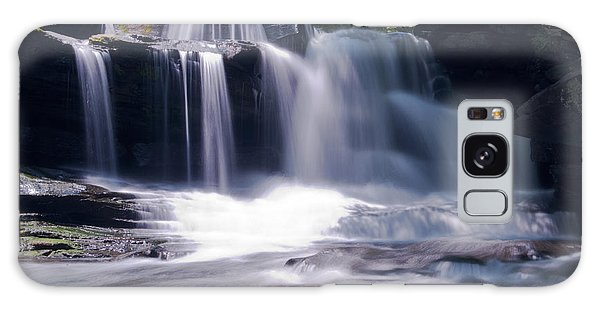 Soft Light Dunloup Falls Galaxy Case by Shelly Gunderson