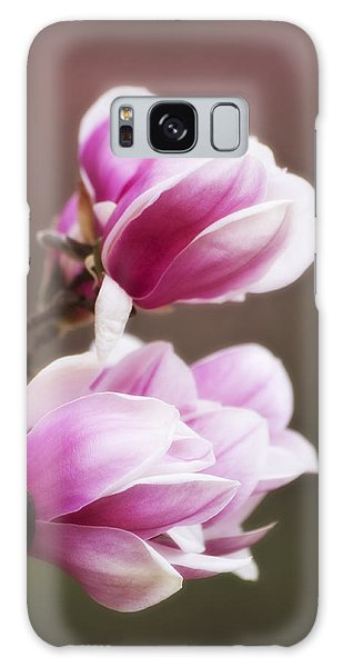 Soft Magnolia Blossoms Galaxy Case by Shelly Gunderson