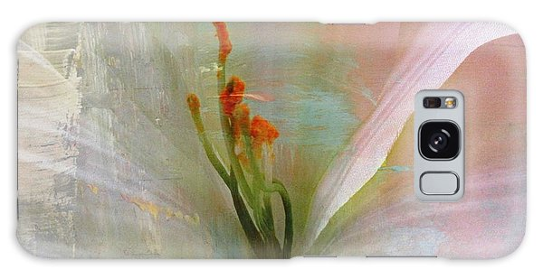 Soft Painted Lily Galaxy Case by Judy Palkimas