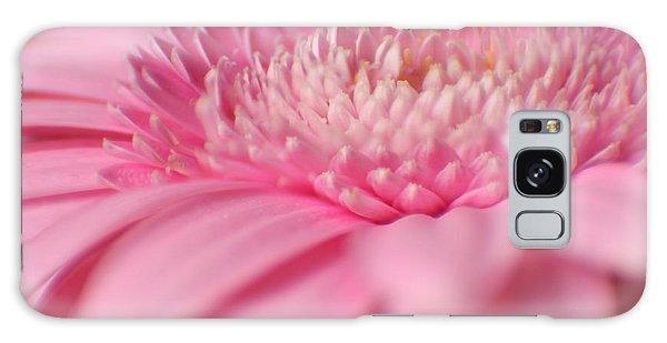 Soft Pink Gerbera Daisy Galaxy Case by Eden Baed